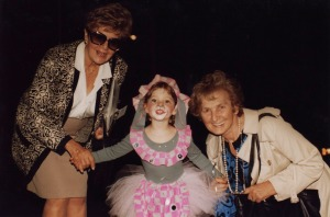 with my two grandmothers, Rachel (left) and Eva (right)