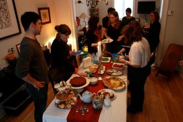 host Jennifer Fischman's Mimouna table