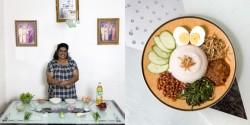 Thilaga Vadhi, 55 Kuala Lumpur, Malaysia Nasi Lemak (coconut rice, vegetables, fried dried anchovies)