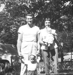 Grandpa Harold and Grandma Barbara, Karen and Bruce