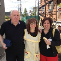 Kat Romanov and her parents. Kat's great-grandfather was the founder of the Corona bakery, whose Pizza Napoletana we created for this event. photo by Roots & Recipes