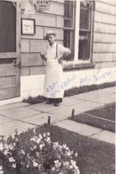 Donato Monaco in front of the bakery
